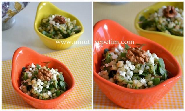 Semizotlu Buğday Salatası