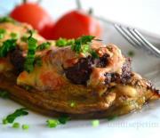 Közlenmiş  Patlıcanda Köfte  Kebabı