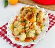 Portakal Soslu Karnabahar Salatası