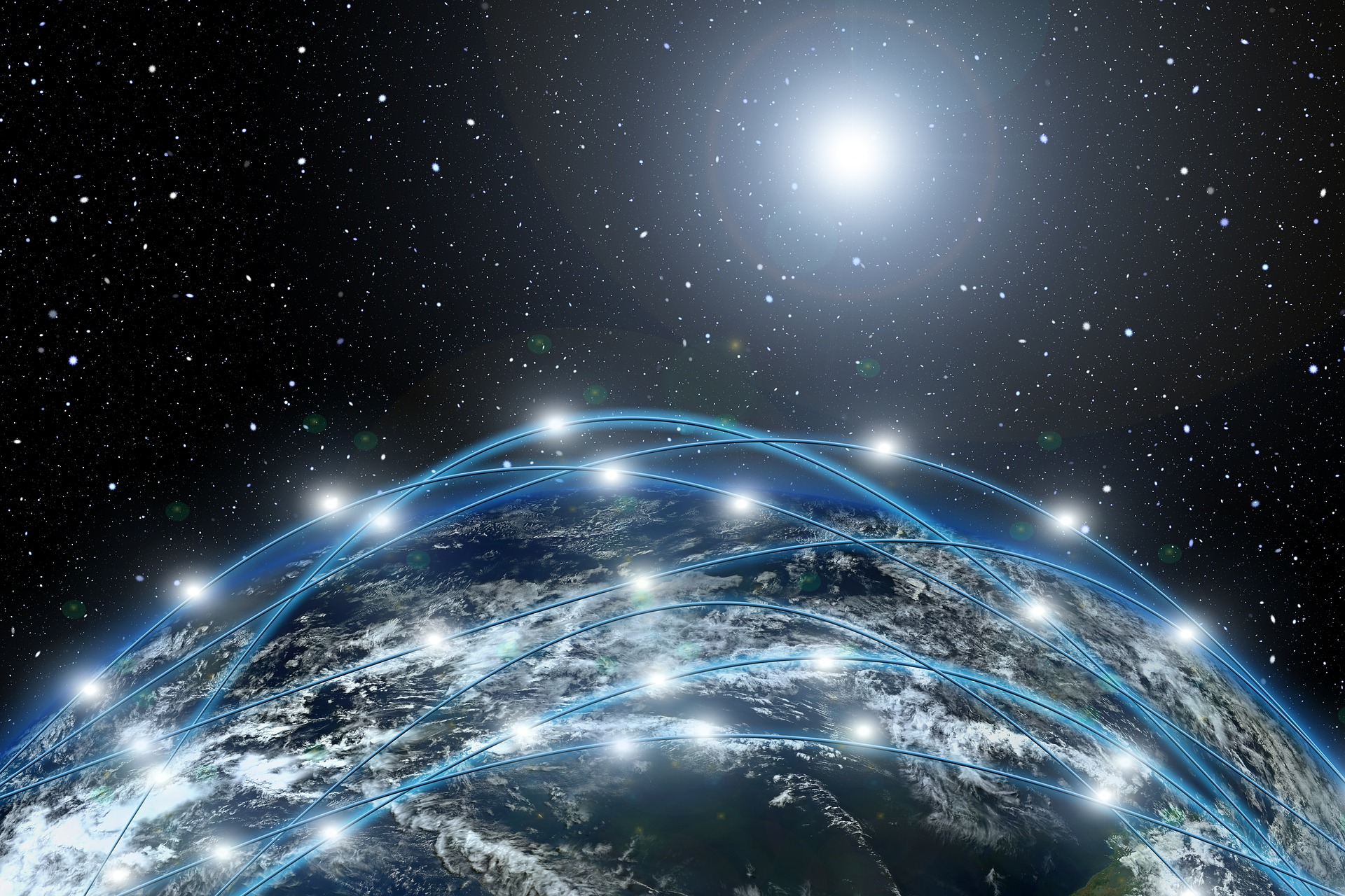 A network over the earth by geralt on Pixabay