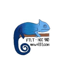 DTLT Chameleon Sticker by Bethany Thomas
