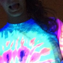 Glow in the dark body pump!! #makemovesumd #nofilter #blacklight (submitted by Instagram user @rosaliefaith)