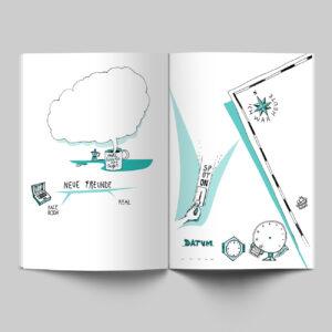 Innenseiten, Mein Buch für alle Tage, illustriert, zweifarbig,
