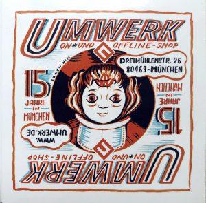Sticker, illlustriert, von Nik Neves gezeichnet, quadratisch,