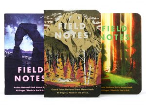Field Notes National Park Edition, SerieD, Notizhefte 3er-Pack