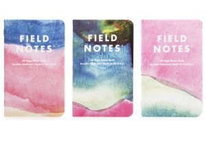 3er Set Notizhefte, Field Notes XOXO Edition, 2019