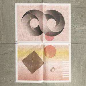 Einpackpapier, acht, Design by Tanja Kischel, Grafik,
