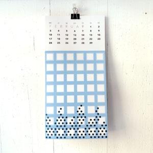Kalenderblatt Februar, Umwerkkalender 2020, bunt, Muster