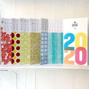 Klappkarten, Muster, bunt, Kalender 2020