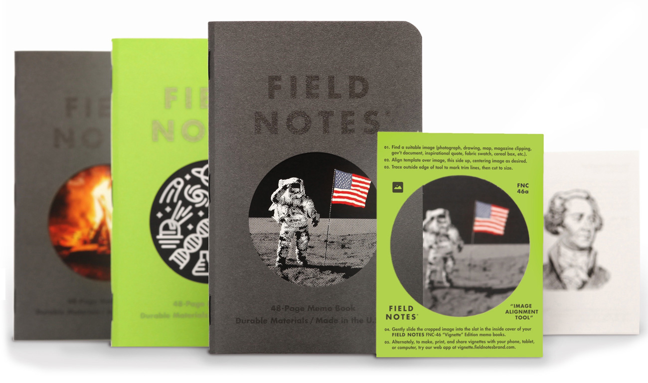 Field Notes, Vignette Edition, alle drei Notizhefte mit Passpartout,