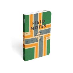 Field Notes, Portland, 3er-Set Notizhefte, grün, orange, natur,