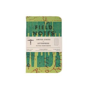 Field Notes, United States of Letterpress, Notizhefte, Poketformat