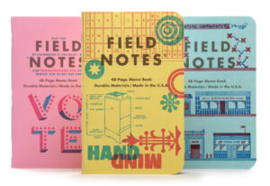 Field Notes, Letterpress Edition, 3er Pack Notebooks,