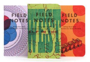 Field Notes, Letterpress Edition, im Buchdruck bedruckte Notebooks,