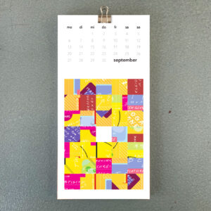 Umwerk Wandkalender 2021 September