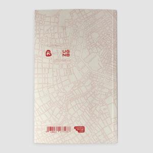 Urban Gridded Notebook, Wien, Rückseite, lineare Stadtplanausschnitte,