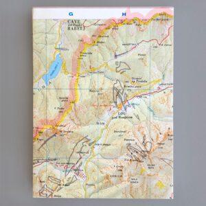 Notizbuch, Landkartenumschlag, Titelseite, 144 Blatt,