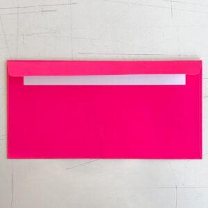 Neonkuvert, Rückseite, neonpink, Verschluss selbstklebend,