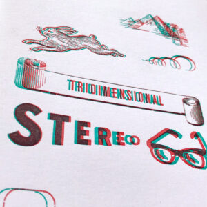 Serrote Notebook, 3D grünrot, 40 Blätter,