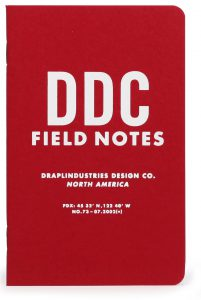 Field Notes, 10th Anniversary Edition, rotes Cover, Notizheft,