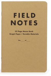 Field Notes, 10th Anniversary Edition, braunes Cover, Notizheft,