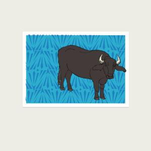 UMWERK - Tierkreiszeichen Postkarte BÜFFEL