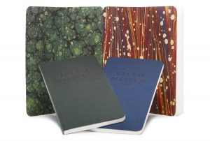 Field Notes, End Papers, marmoriertes Vorsatzpapier, aufgeklappt,