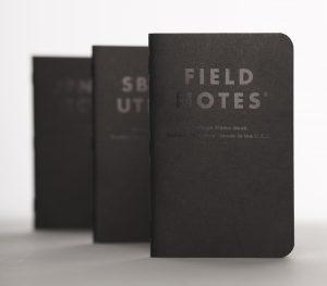 Field Notes, Clandestine, schwarz, Schrift lackiert, Notizhefte,