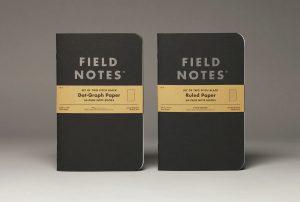 Paar Pitch Black, Field Notes, pechschwarzer Einband,