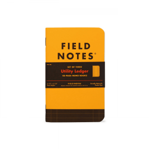 Field Notes, Utility Edition, Ledger, Notizhefte, gelb und schwarz,