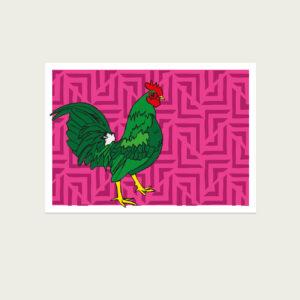 UMWERK - Tierkreiszeichen Postkarte HAHN