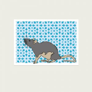 UMWERK - Tierkreiszeichen Postkarte RATTE