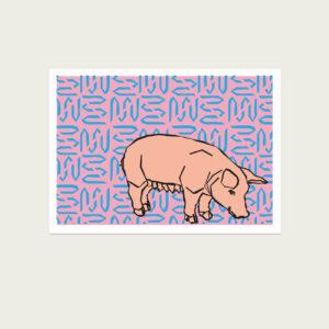 UMWERK - Tierkreiszeichen Postkarte SCHWEIN