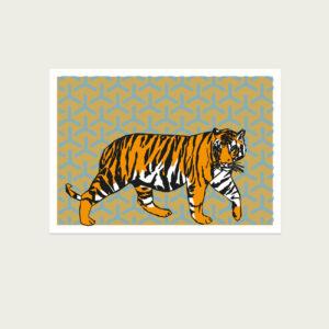 UMWERK - Tierkreiszeichen Postkarte TIGER