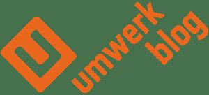 umwerk, blog, Überschrift, orangefarben, Markenzeichen, Logo,