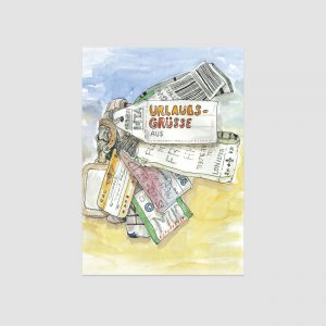 UMWERK - Postkarte URLAUBSGRÜSSE