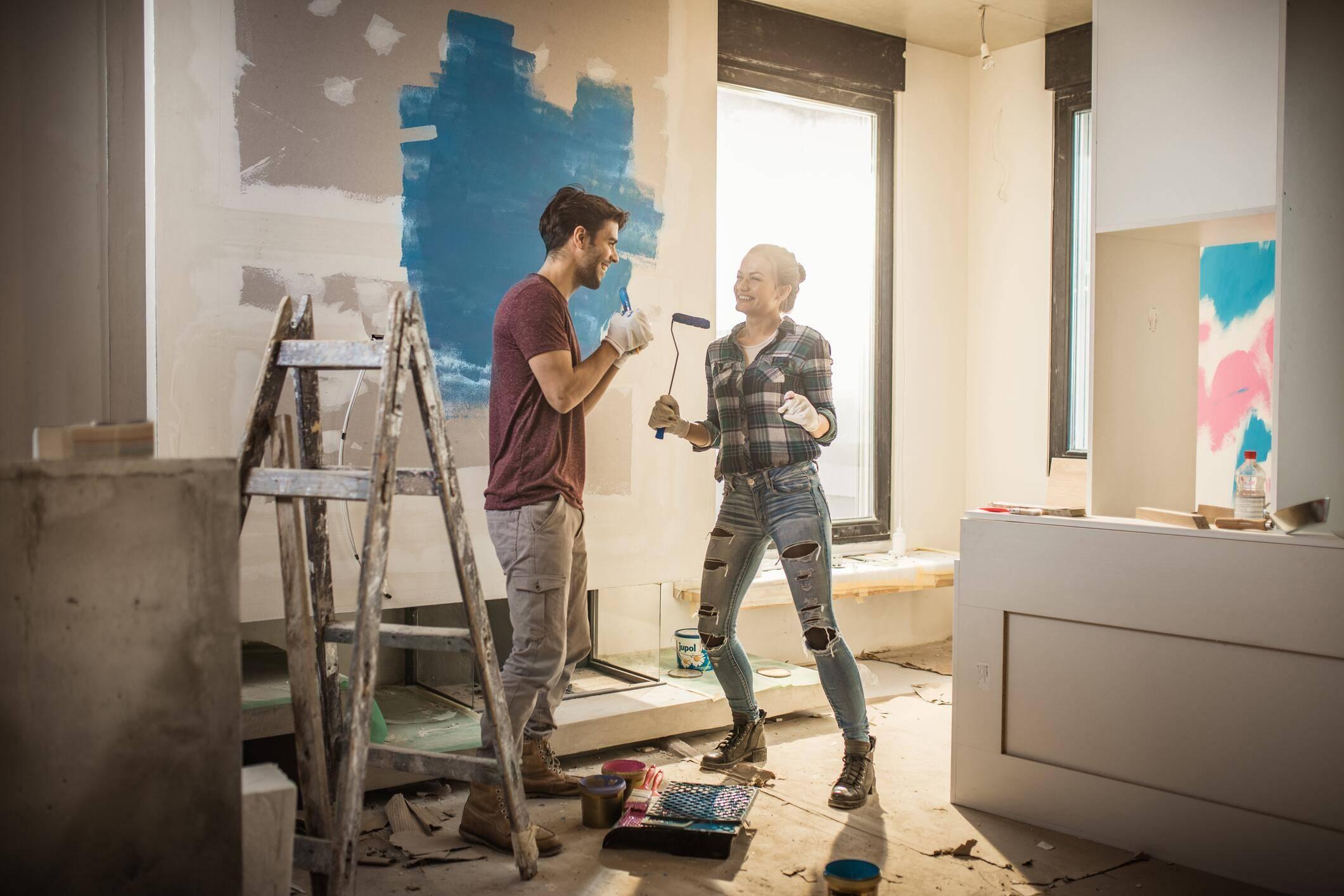Wnde streichen Tipps und Techniken fr die Wohnung