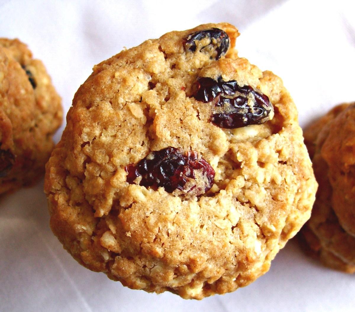 Biscuits à l'avoine canneberge-coco-chocolat blanc