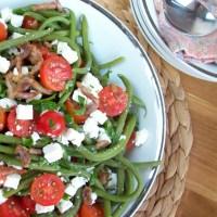 Salade de haricots verts à la sauce balsamique