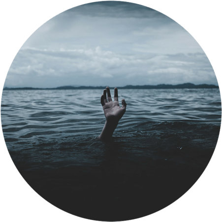Person drowning - How to Overcome Depression and Anxiety
