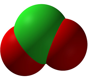CDS molecule, red and green
