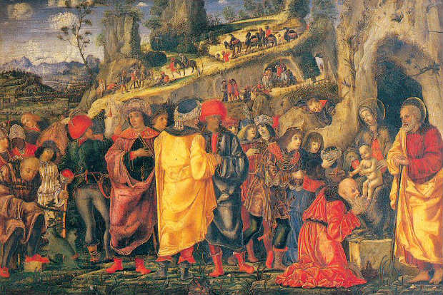 Adoration of the Magi by Bernardo Parentino (wikimedia.org) Black man as king