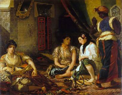 Women of Algiers in Their Apartment by Eugène Delacroix (wikimedia.org) Black female servant