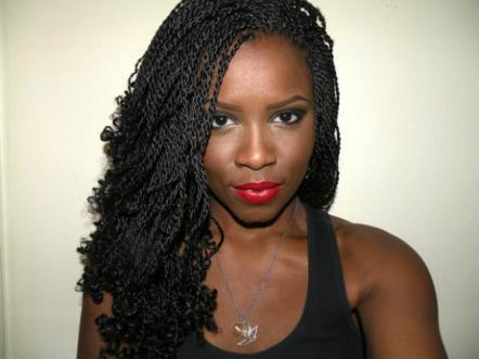 "Kinky Twists: Small to medium twists using kinky Marley hair and partings less than 1"" wide."