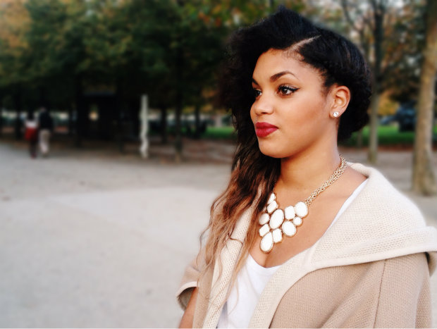 paris street style ombre side swoop