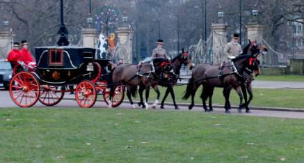 London's the perfect mix of modernity and tradition. We spotted this succession of horse drawn carriages trotting through Hyde Park just before we interviewed Adora.