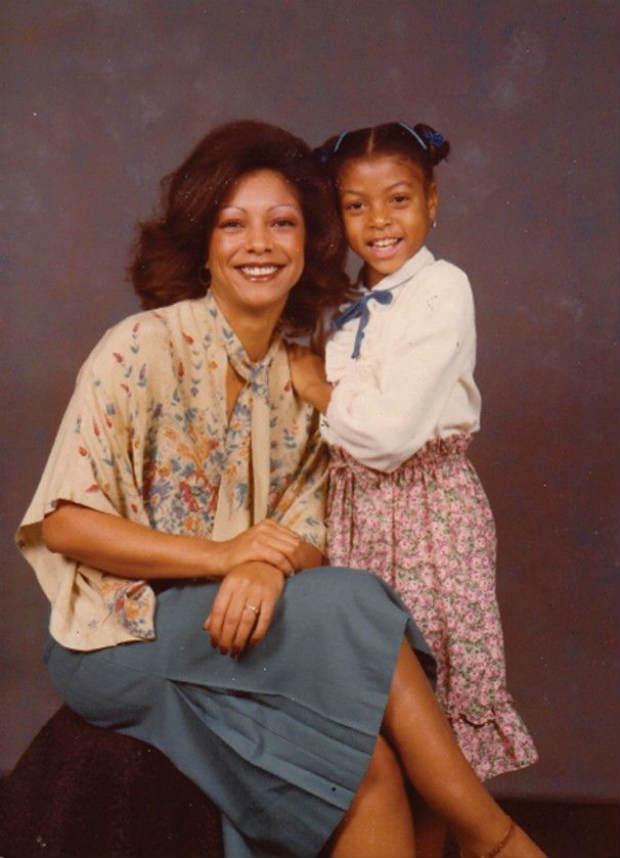 Taraji and her mom