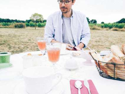 How often do you get to eat breakfast in the middle of a vineyard.