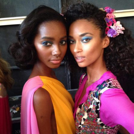 DVF stunners Anais Mali and Tami Williams are curled perfection.
