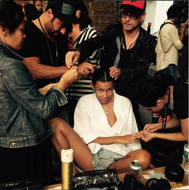 Androgynous beauty and rebel It-girl, Binx Walton braces the Glam Squad.